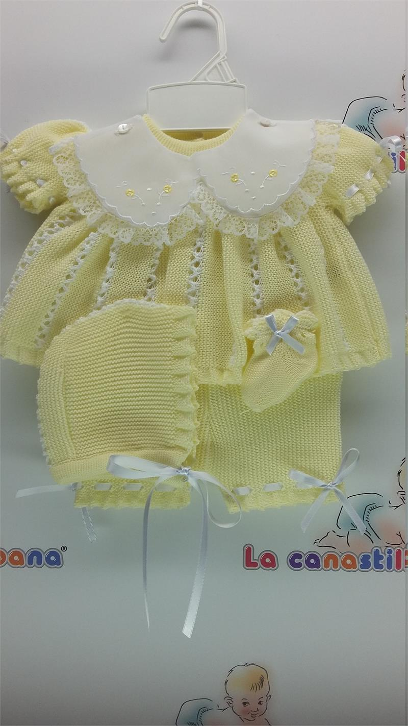 Beautiful Baby Coming Home Outfit Yellow Color Knit Baby