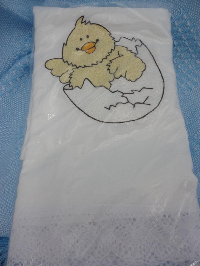 Baby Blanket Pa 241 Al Tela Antiseptica Bordado Pollito