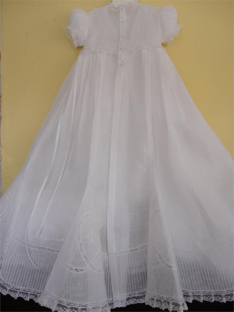 Baby Girl Baptism Linen Dress Cargador De Bautizo En