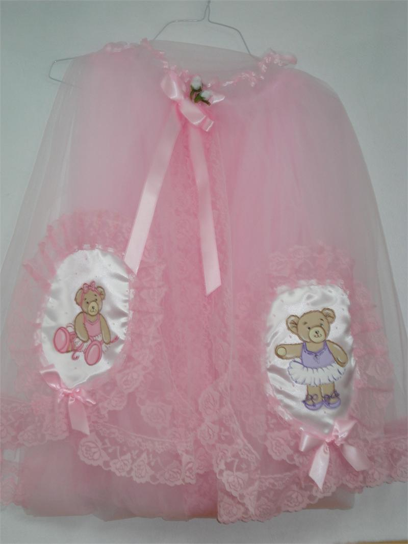 Mosquito Net Pink With Ballerina Bear