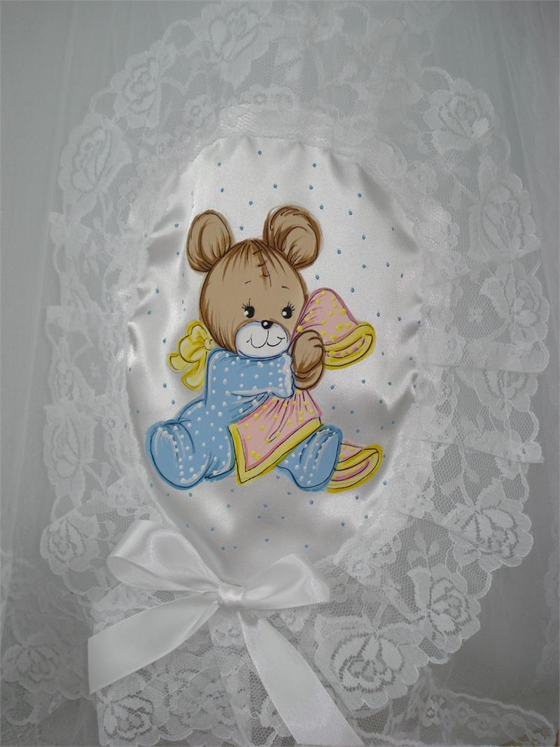 Mosquito Net With Bear Holding A Blanket