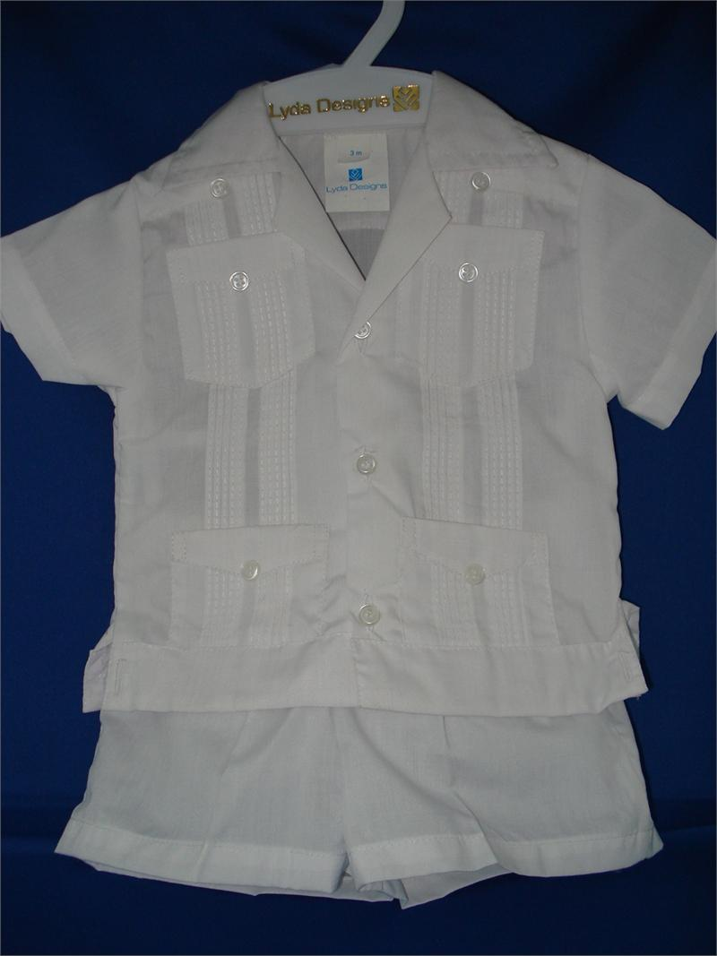 Guayabera White For Newborn