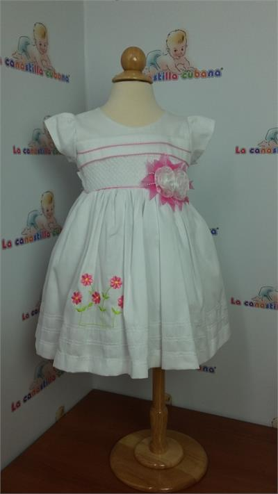 Dress With Pink Flowers Embroidered Toddler Girls LCC40 Magnificent Baby Dress Display Stand